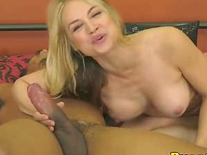 She is a nicest blond we could find and she just became totally crazy