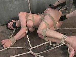 Girl-on-girl Honey Gets Some Intense Whipping