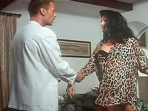 Horny Dark haired Gets Analized and Facialized by Rocco Siffredi in Retro Vid