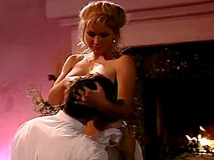 Sizzling blondie bj's a hard hard-on of a vampire