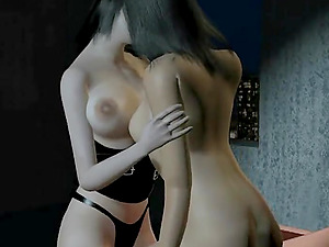 Hot lesbian couple have sex together for the first time