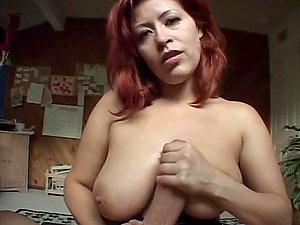 Big Jizz-shotgun Fucks Sandy-haired Latina Mummy Misty Mendez in Point of view