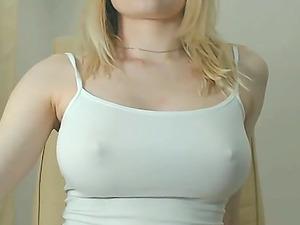 Wonderful slut in see through costume is teasing