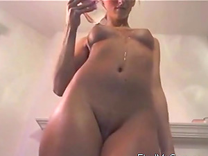 Dance! Blonde with perky tits dances on webcam!