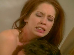 Gwen Summers the promiscuous red-haired stunner sucking and railing big jizz-shotgun