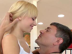 Hot blonde Fucks Her Neighbour Babysitter