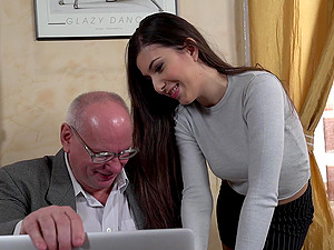 Horny grandpa finally gets to have fun with a young Anya Krey