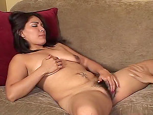 Big Titty Red-haired Eating Black-haired's Hairy Cunt.