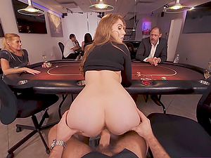 Busty babe is fucking hard in this agent VR porn parody