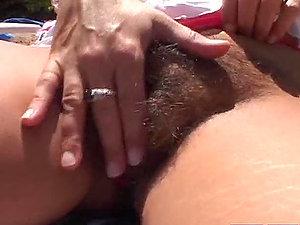 Big Knocker Mummy Gets Her Hairy Labia Fucked.