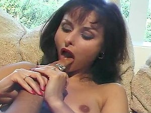 Hot dark-haired chick fucked doggystyle with a nice jizz flow