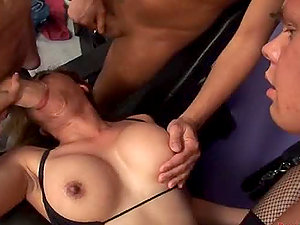 Voluptuous Asian Cockslut Fucked By Three Milky Shafts in Group sex