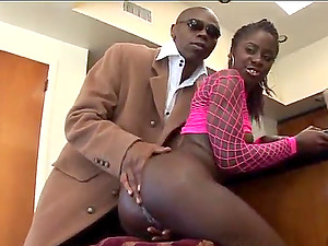 Young Black Girl Tiny Star with Wet Creamy Pussy