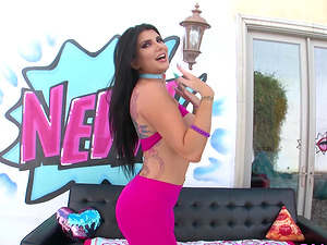 Romi Rain tit fuck and blowjob