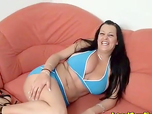 Sexy girls with pierced nipples, playing with a stranger's cock