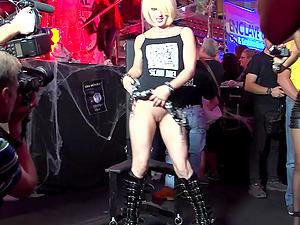 Spanish Blonde Public Nudity