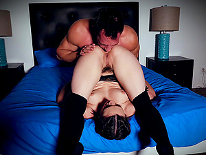 Strong guy makes lovely Jade Nile moan by fucking her roughly