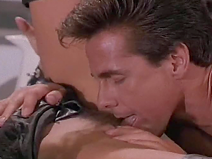 Smoking hot stunner in fetish sundress gets banged in the office