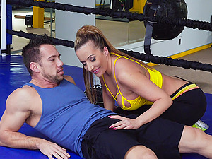 Busty girl Richelle Ryan knows how to bang in various poses