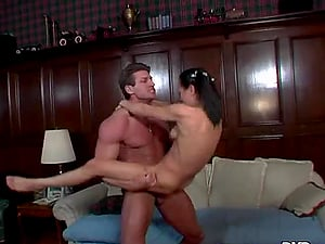Lee Stone fucks petite black-haired Cytherea with all his might