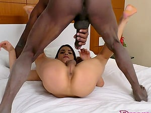 Tgirl Marcelle Herrera Takes BBC Anally