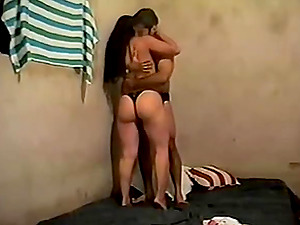 Amateur Indian together with her partner strips their clothes off in front of their cam