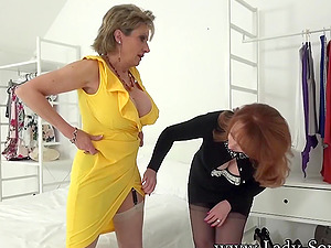 Lady Sonia and Red XXX striptease fun