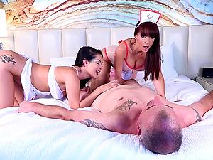 Katrina Jade and Catalina Cruz make love dick