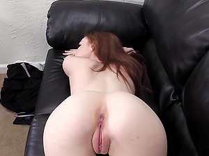 Tattooed Layla get's bent over and pounded during her casting