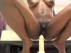 Very Messy Ebony Squirting Non Stop