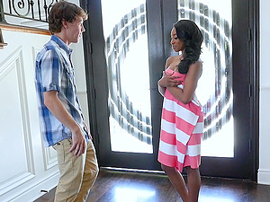 Perfect ebony babe Lala Ivey gives her best to satisfy her man