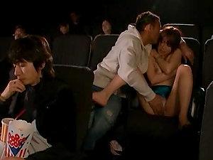 Insatiable Riku Yamaguchi having wild fucky-fucky in the cinema