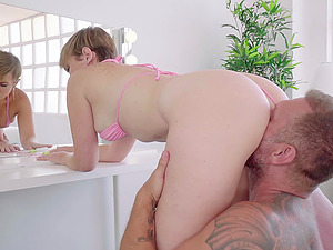Busty blonde Latina Paola Guerra gets her huge ass pounded hard