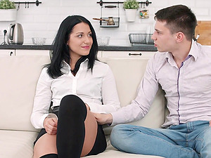 Hardcore russian cople clothed sex with babe Jessica Lincoln