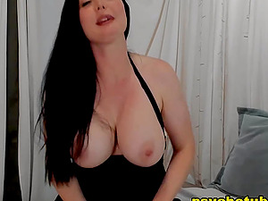 Busty Brunette Reveals Kinky Tricks On Webcam
