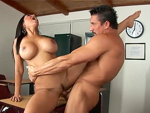 Priya Anjali Rai rails Tommy Gunn's man rod and gets her mouth crammed with jizz