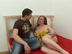 Fat Mature Rides Son's Cock In Her Bedroom