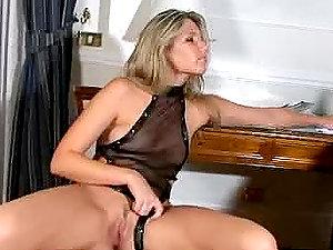 Spunky Cherry Jul fucktoys herself and deep throats big dick