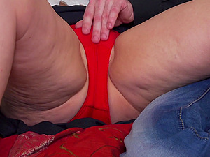 Short haired mature blonde Klaudia D. hardcore pounded from behind