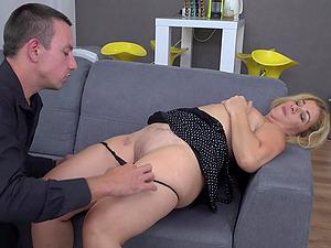 Mature amateur blonde MILF Aranka V. fucked missionary style