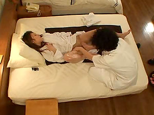 Pretty Japanese chick luvs voluptuous rubdown and some nasty banging