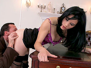 Amabella blows and gets her stunning snatch fucked from behind