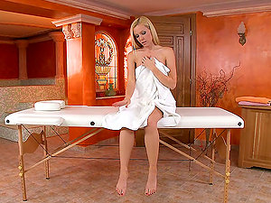 Lezzy Joy On A Rubdown Table With Antonya And Sophie