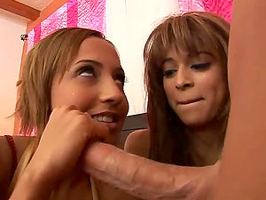 Horny Latina Teenagers Sharing the Fattest Man rod of their Lives