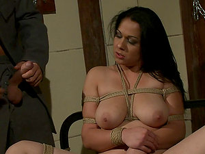 Raven Haired Stunner Gets Ravaged In Subjugation Scene