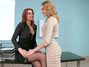 A Hot Girl/girl Scene With Berinice And Cindy