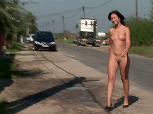 Sexy honey Hadjara likes railing a bicycle naked