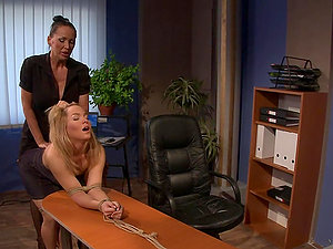 Mandy Bright and Salome have some g/g Domination & submission joy indoors