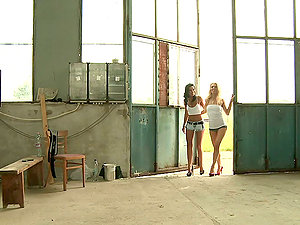 Michelle Moist and Shalina Divine have hot girl-on-girl hookup