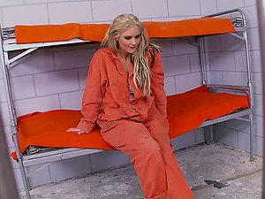 Phoenix Marie the hot blonde inmate masturbates